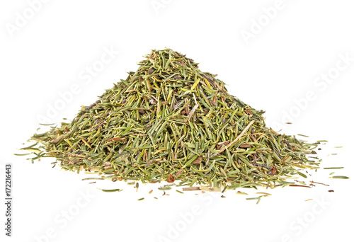 Fotografía  Heap of dry thyme isolated on a white background