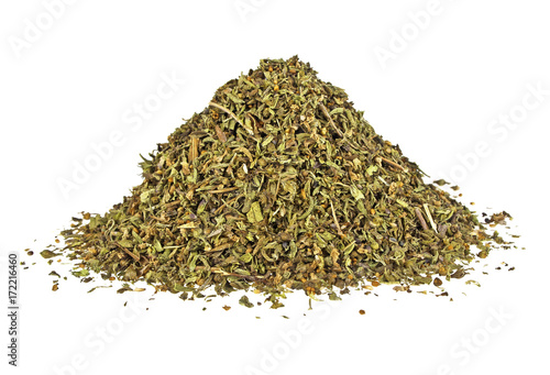 Fototapeta Dried savory isolated on a white background obraz