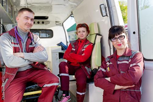 Emergency Medicine Positive ER Doctor With Paramedics Medical
