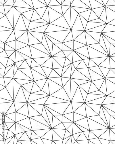 Recess Fitting Pattern Seamless polygonal pattern background, creative design templates