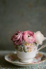 Pink Ranunculus Flowers In A V...