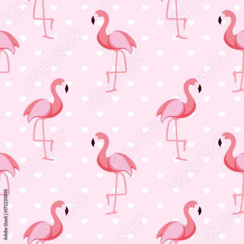 sliczna-retro-bezszwowa-flaminga-wzoru-tla-wektoru-ilustracja