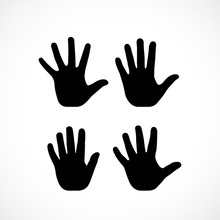 Human Palm Hand Vector Silhoue...