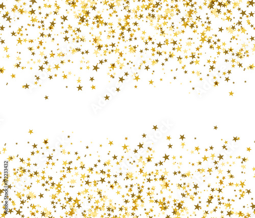 Golden stars with blank space in the center, brilliant shine. Fototapete