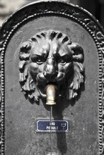 Old Fountain With A Lion Face