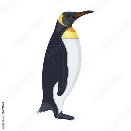 Papiers peints Pingouin Penguin, flightless sea bird. The Imperial Penguin single icon in cartoon style vector symbol stock illustration web.