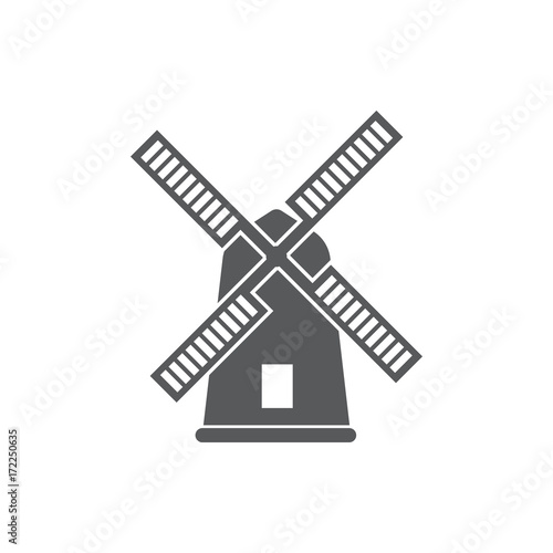 Photo Mill icon vector
