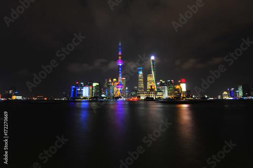 Foto op Aluminium Shanghai Shanghai world financial center skyscrapers