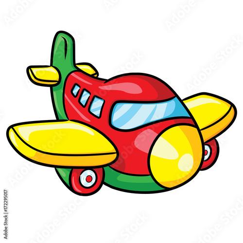 Airplane Cartoon Illustration Of Cute Cartoon Airplane Buy This