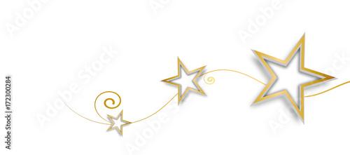 Obraz Stern Welle Wellen Band Banner Gold Weihnachten  - fototapety do salonu