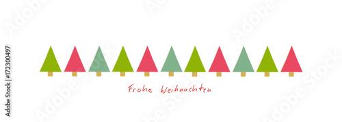 Frohe Weihnachten Band.Frohe Weihnachten Band Banner Tanne Tannen Reihe Rot Grün Text Buy