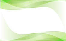 Green Wave Vector Design White Background