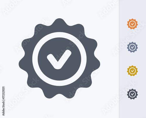 Fotografía  Warranty Seal - Carbon Icons