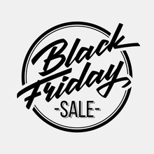 Black Friday Sale Badge With H...
