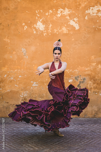 flamenco dancer in the streets of sevilla Wallpaper Mural