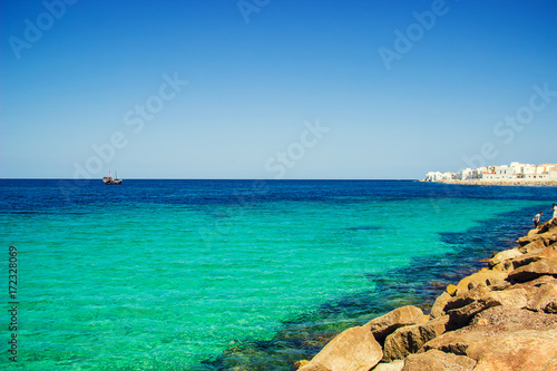 Egypt The Mediterranean Sea Tunisia Mahdia. Selective focus.
