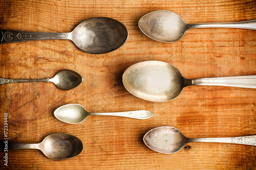 Fotografía  Cucharas de plata