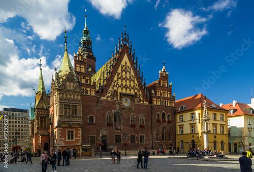 Obraz na dibondzie (fotoboard) Wrocławska starówka w świetle popołudniowego słońca
