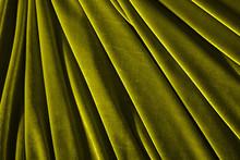 Olive Color Velvet Textile For Background Or Texture