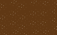 Classic Brown Cute Wallpaper With White Polka Dots