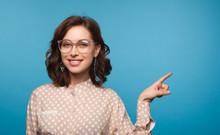 Charming Model Wearing Eyeglasses