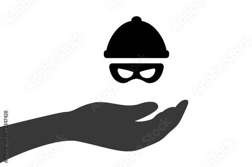 Fotografia Hand hält Verbrecher