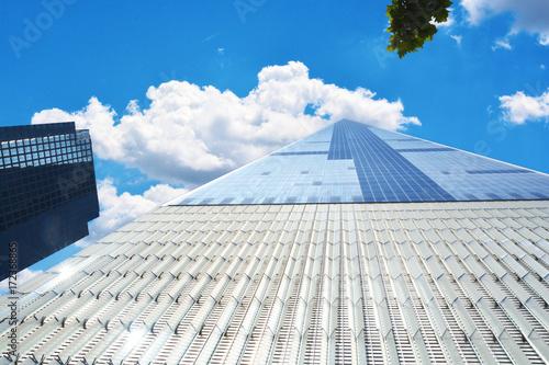 One World Trade Center, endless skyscraper - symbol of America, New York City Poster