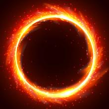 Realistic Round Light Fire Fla...