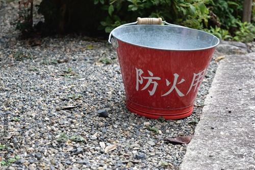 Fotografie, Obraz  防火用バケツ