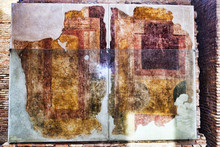 Wall Paintings Of A Room In The House Of Diana - Ostia Antica , Rome - Italy