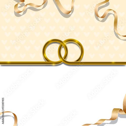Wedding Background Interlocked Wedding Rings Golden
