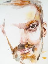 Watercolor Fashion Sketch Guy