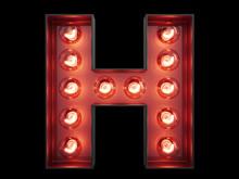 Light Bulb Alphabet Character H Font