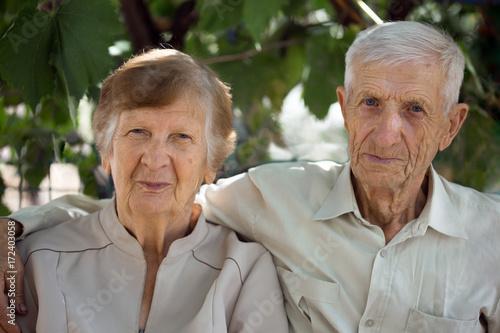 Plakat portret dziadków