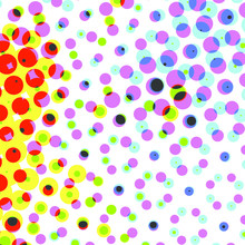 Colorful Abstract Halftone Design