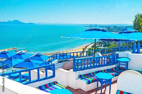 Poster Tunesië Luxury resort of Sidi Bou Said