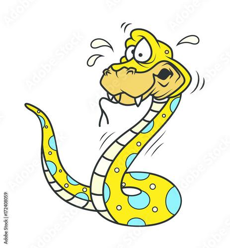 scared cartoon snake clip art vector illustration buy this stock vector and explore similar vectors at adobe stock adobe stock scared cartoon snake clip art vector