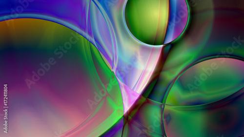 Obraz na płótnie Streszczenie sferyczne tło pryzmatyczne
