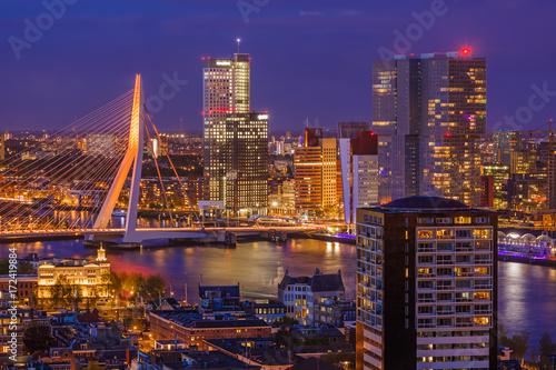 Staande foto Rotterdam Rotterdam cityscape - Netherlands