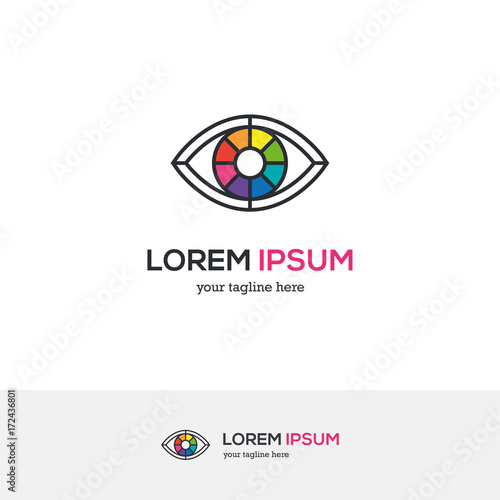 Colorful Eye Logo Looking Like A Color Wheel Buy This Stock