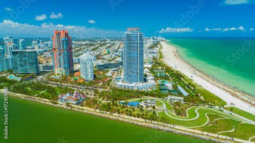 Fototapeta Widok z lotu ptaka na South Beach. Plaża Miami. Floryda. USA.