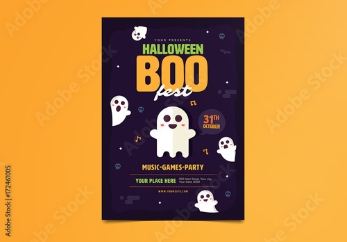 Halloween Party Flyer Layout 1 Buy This Stock Template And Explore
