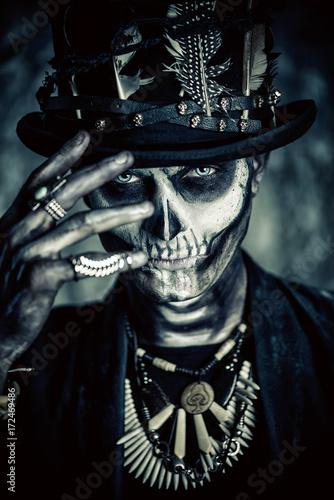 Spoed Fotobehang Halloween halloween scary makeup