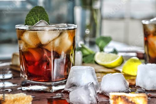 Rum refreshment alcoholic drink Wallpaper Mural