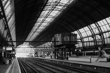 Central Train Station In City Of Amsterdam