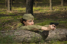 Woman In Uniform Of The Red Ar...