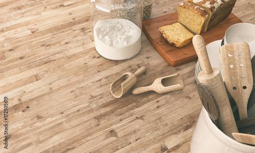 Fotografía  Making bread on table