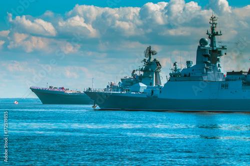 Fototapeta Okręty wojskowe Rosji. Krążowniki rakietowe.