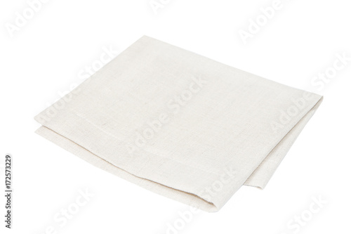 Beige cloth isolated