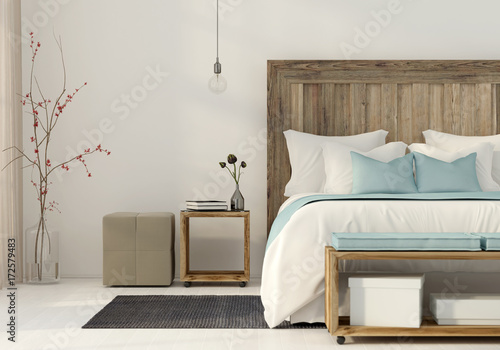 Photo  Bedroom in a minimalist style